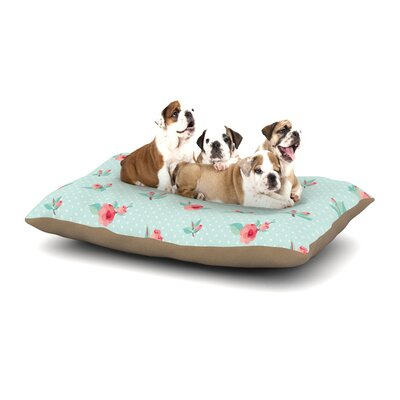 Happy Easter II Springtime Dog Pillow with Fleece Cozy Top Size: Small (40 W x 30 D x 8 H)