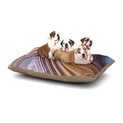 KESS Original Pale Layered Agate Dog Pillow with Fleece Cozy Top