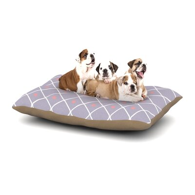 Lilac Web Dog Pillow with Fleece Cozy Top Size: Small (40 W x 30 D x 8 H)