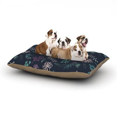 Louise Flower III Dog Pillow with Fleece Cozy Top Size: Small (40 W x 30 D x 8 H)