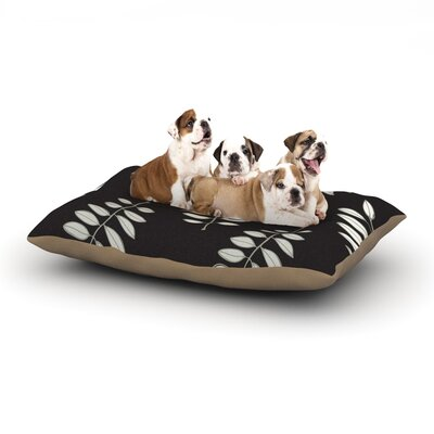 Laurie Baars Pagoda Leaf Floral Illustration Dog Pillow with Fleece Cozy Top Size: Small (40 W x 30 D x 8 H)