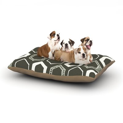 Laurie Baars Hexy Geometric Dog Pillow with Fleece Cozy Top Size: Small (40 W x 30 D x 8 H)