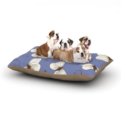 Louise Butterflies Dog Pillow with Fleece Cozy Top Size: Large (50 W x 40 D x 8 H)
