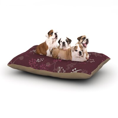 Laurie Baars Ferns Vines Bordeaux Floral Dog Pillow with Fleece Cozy Top Size: Large (50 W x 40 D x 8 H)