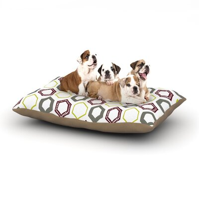 Laurie Baars Hexy Small Geometric Dog Pillow with Fleece Cozy Top Size: Large (50 W x 40 D x 8 H)