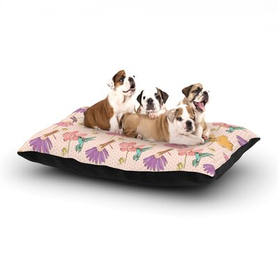 Laura Escalante Magic Garden Dog Pillow with Fleece Cozy Top Size: Large (50 W x 40 D x 8 H)