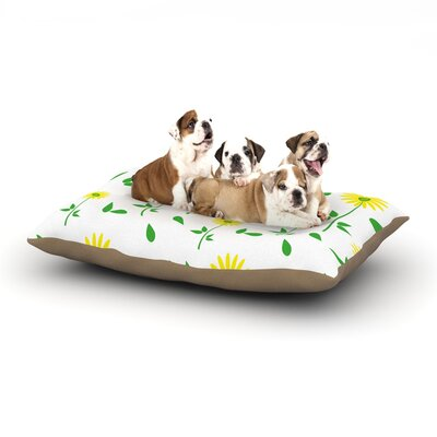 Louise Daisy Dog Pillow with Fleece Cozy Top Size: Large (50 W x 40 D x 8 H)