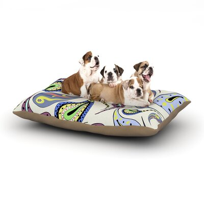 Louise Pattern II Dog Pillow with Fleece Cozy Top Size: Large (50 W x 40 D x 8 H)
