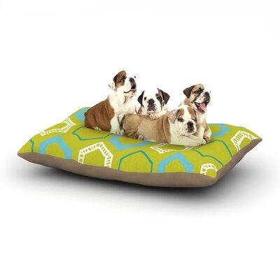 Laurie Baars Hexy Lime Dog Pillow with Fleece Cozy Top Size: Large (50 W x 40 D x 8 H)