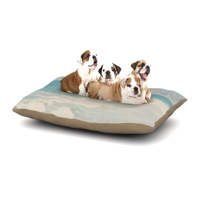 Laura Evans Waves Dog Pillow with Fleece Cozy Top Size: Small (40 W x 30 D x 8 H)