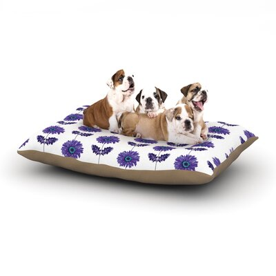 Laura Escalante Gerbera Flower Dog Pillow with Fleece Cozy Top Size: Large (50 W x 40 D x 8 H), Color: Purple/Lavender