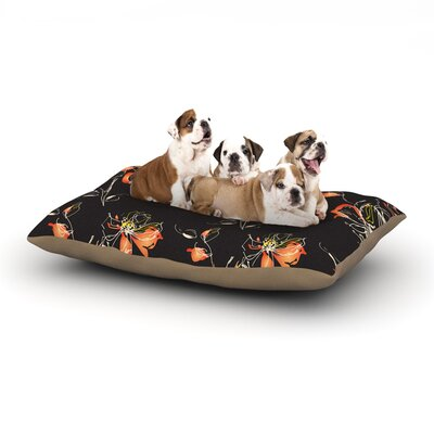 Louise Blackflower Dog Pillow with Fleece Cozy Top Size: Large (50 W x 40 D x 8 H)