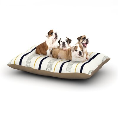 Laurie Baars Textured Stripes Abstract Lines Dog Pillow with Fleece Cozy Top Size: Large (50 W x 40 D x 8 H)