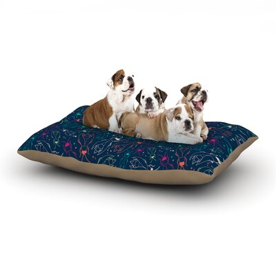 Laura Escalante Fireflies Midnight Garden Dog Pillow with Fleece Cozy Top Size: Small (40 W x 30 D x 8 H)