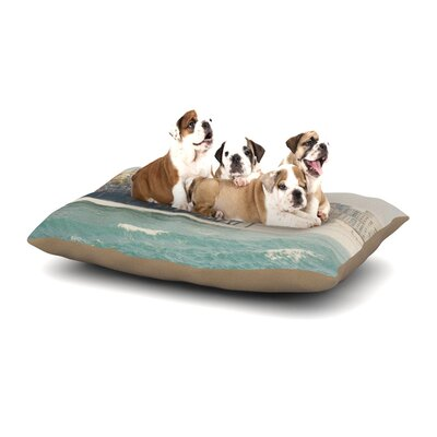 Laura Evans The Pier at Santa Monica Coastal Dog Pillow with Fleece Cozy Top Size: Large (50 W x 40 D x 8 H)