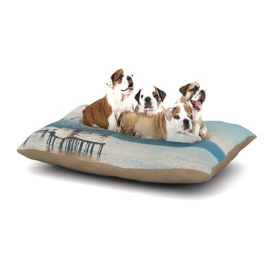 Laura Evans Down By the Lake Dog Pillow with Fleece Cozy Top Size: Large (50 W x 40 D x 8 H)