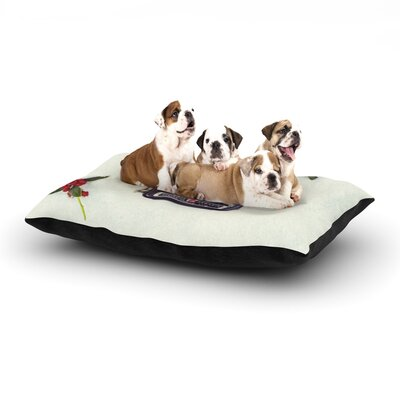 Libertad Leal The Four Seasons: Winter Dog Pillow with Fleece Cozy Top Size: Large (50 W x 40 D x 8 H)
