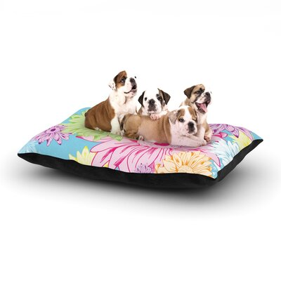 Laura Escalante Summer Time Dog Pillow with Fleece Cozy Top Size: Large (50 W x 40 D x 8 H)