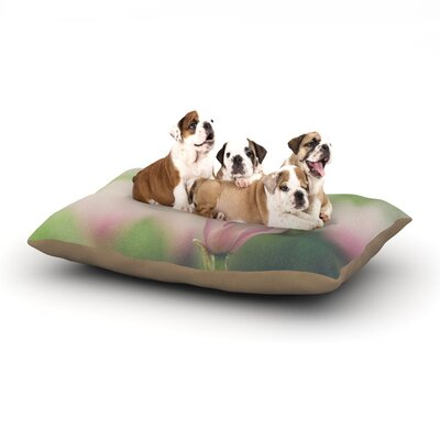 Laura Evans A Pink Magnolia Dog Pillow with Fleece Cozy Top Size: Large (50 W x 40 D x 8 H)