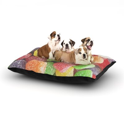 Libertad Leal I Want Gum Drops Dog Pillow with Fleece Cozy Top Size: Large (50 W x 40 D x 8 H)
