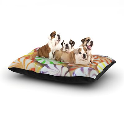 Libertad Leal I Want Candy Dog Pillow with Fleece Cozy Top Size: Large (50 W x 40 D x 8 H)