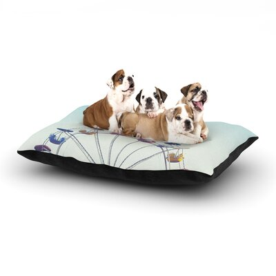 Libertad Leal Dont Stop Believing Ferris Wheel Dog Pillow with Fleece Cozy Top Size: Small (40 W x 30 D x 8 H)
