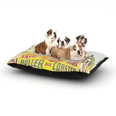 Libertad Leal Life is a Rollercoaster Dog Pillow with Fleece Cozy Top Size: Small (40 W x 30 D x 8 H)