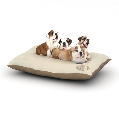 Laura Evans Its All a Blur Ferris Wheel Dog Pillow with Fleece Cozy Top Size: Small (40 W x 30 D x 8 H)
