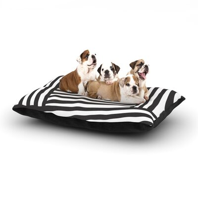 Louise Machado Stripes Dog Pillow with Fleece Cozy Top Size: Large (50 W x 40 D x 8 H), Color: Black