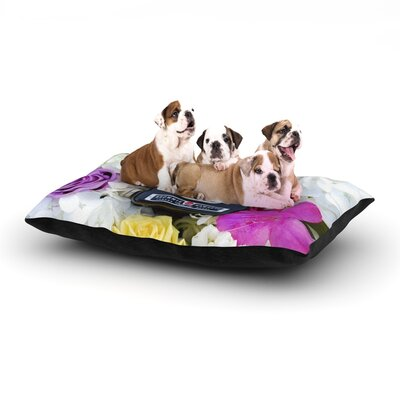 Libertad Leal The Four Seasons: Spring Dog Pillow with Fleece Cozy Top Size: Large (50 W x 40 D x 8 H)