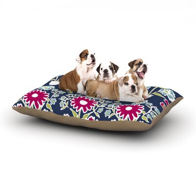 Laura Nicholson Turkish Vase Magenta Dog Pillow with Fleece Cozy Top Size: Small (40 W x 30 D x 8 H)