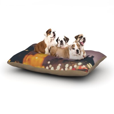 Laura Evans Westminster at Night Dog Pillow with Fleece Cozy Top Size: Large (50 W x 40 D x 8 H)