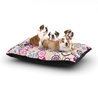 Louise Machado Arabesque Dog Pillow with Fleece Cozy Top Size: Small (40 W x 30 D x 8 H)