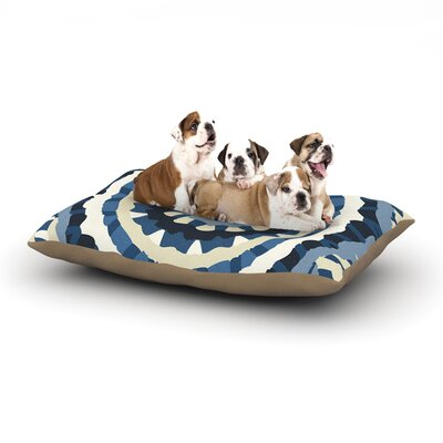 Laura Nicholson Ribbon Mandala Dog Pillow with Fleece Cozy Top Size: Small (40 W x 30 D x 8 H)