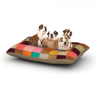 Louise Machado 'Decorative Pixel' Warm Patches Dog Pillow with Fleece Cozy Top Size: Large (50