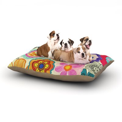 Louise Machado 'Charming Floral' Floral Dog Pillow with Fleece Cozy Top Size: Large (50