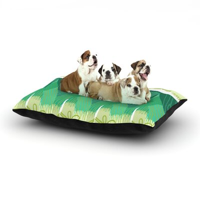 Laura Nicholson Leeks Dog Pillow with Fleece Cozy Top Size: Large (50 W x 40 D x 8 H)