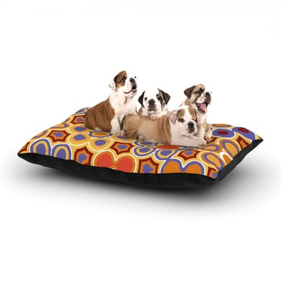 Laura Nicholson Flower Garden Dog Pillow with Fleece Cozy Top Size: Small (40 W x 30 D x 8 H)