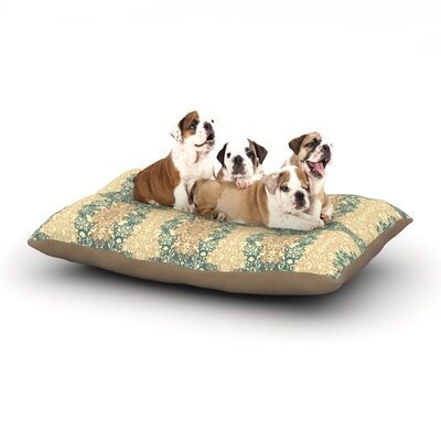 Mydeas Fancy Damask Dog Pillow with Fleece Cozy Top Size: Large (50 W x 40 D x 8 H), Color: Brown/Teal