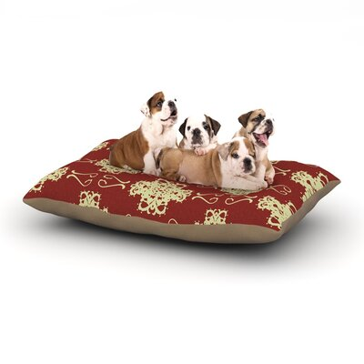 Mydeas Asian Motif Damask Dog Pillow with Fleece Cozy Top Size: Large (50 W x 40 D x 8 H)
