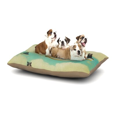 Natt Bears Floating Animals Dog Pillow with Fleece Cozy Top Size: Small (40 W x 30 D x 8 H)