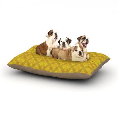 Mydeas Dotted Plaid Geometric Dog Pillow with Fleece Cozy Top Size: Small (40 W x 30 D x 8 H)