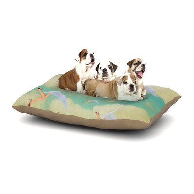 Natt Swan Dog Pillow with Fleece Cozy Top Size: Small (40 W x 30 D x 8 H)