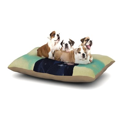Natt Passenger 8F Schnauzer Dog Pillow with Fleece Cozy Top Size: Small (40 W x 30 D x 8 H)