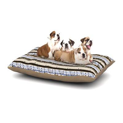 Mydeas Nautical Breeze - Sandy Stripes Dog Pillow with Fleece Cozy Top Size: Small (40 W x 30 D x 8 H)