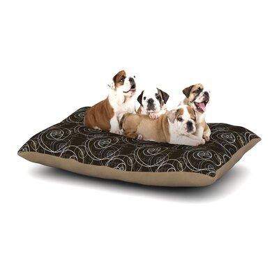Mydeas Nautical Breeze - Spiral Swirls Dog Pillow with Fleece Cozy Top Size: Large (50 W x 40 D x 8 H)