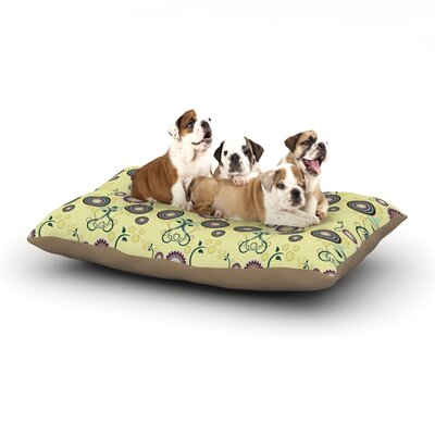 Mydeas Spring Florals Dog Pillow with Fleece Cozy Top Size: Large (50 W x 40 D x 8 H)