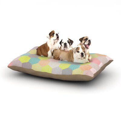 Louise Machado Pastel Hexagon Geometric Dog Pillow with Fleece Cozy Top Size: Small (40 W x 30 D x 8 H)