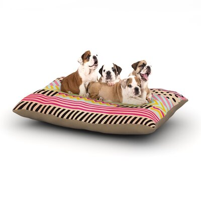 Louise Machado Decorative Tape Dog Pillow with Fleece Cozy Top Size: Large (50 W x 40 D x 8 H)