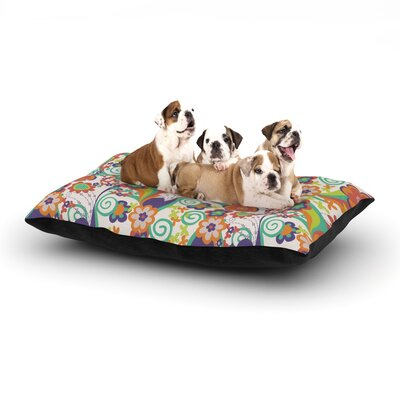 Louise Machado Printemps Dog Pillow with Fleece Cozy Top Size: Small (40 W x 30 D x 8 H)